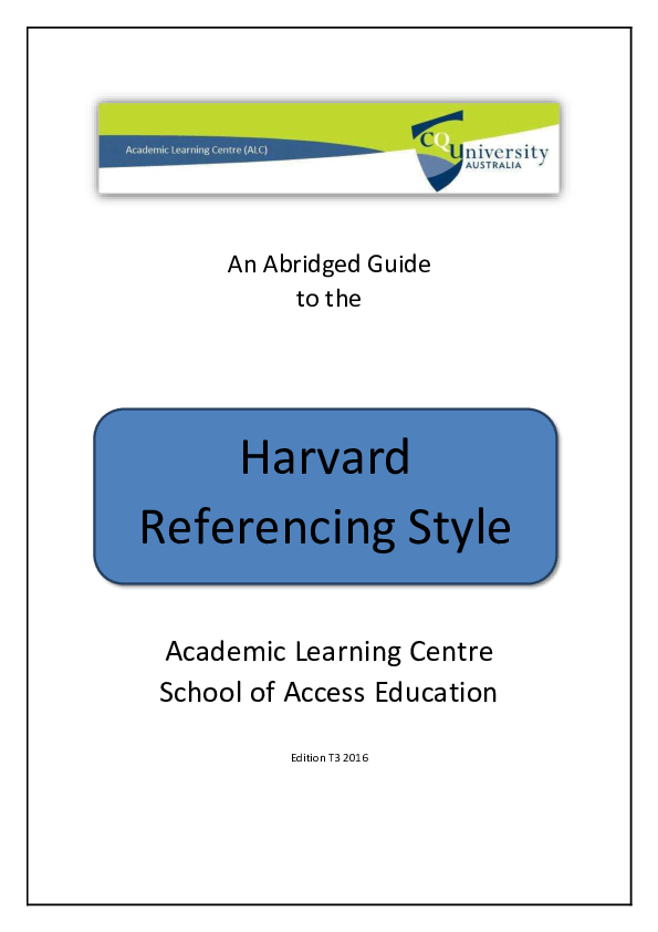 harvard referencing guide pdf 2016