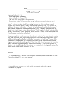 a modest proposal study guide