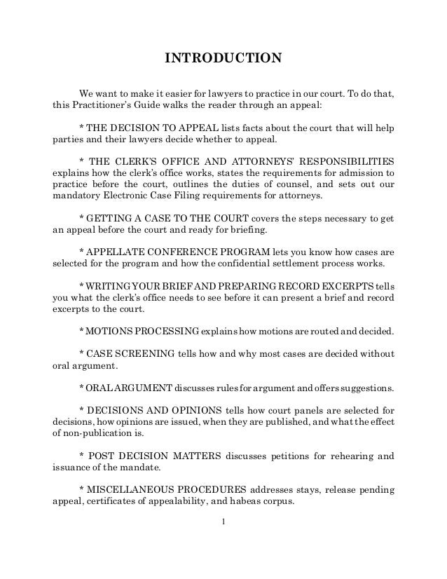 guide to appeals in divisional court
