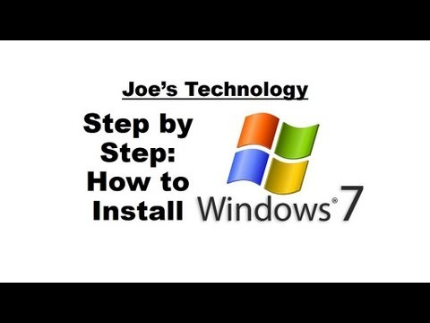 windows 7 installation guide step by step